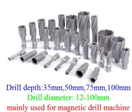 GOWE 14 35mm drill depth 56mm 57mm 58mm 59mm 60mm diameter Tungsten carbide drills bits for magnetic drill machine