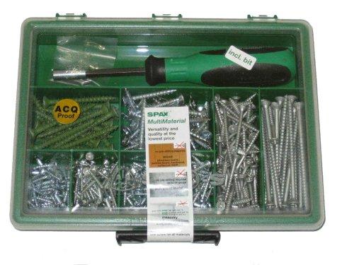 SPAX Multi-Material Screw Assortment Kit Large