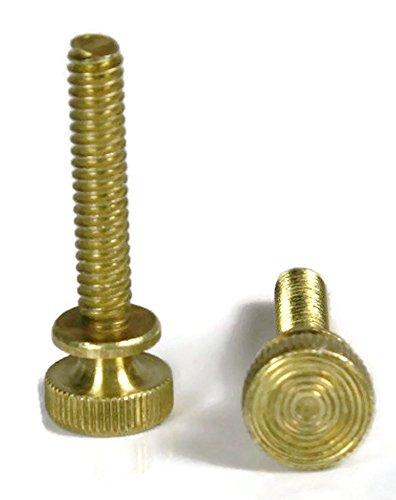 Knurled Head Thumb Screws - Solid Brass Machine Screws - 8-32 x 38 QTY 25