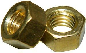 Solid Brass Machine Screw hex nuts 516-18 Qty 25