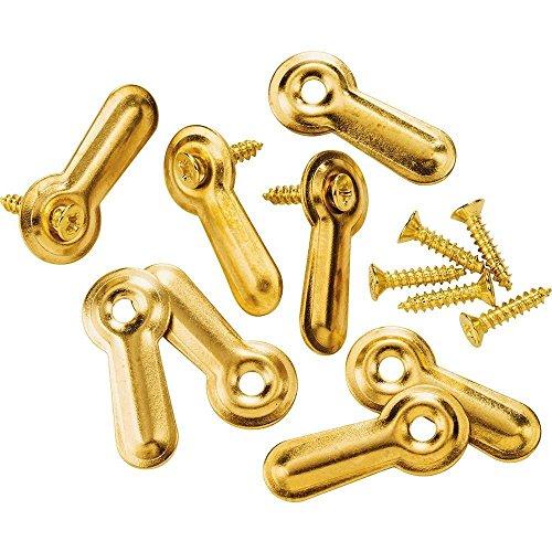 Brass-plated Turn Buttons wscrews 78  8-Pack