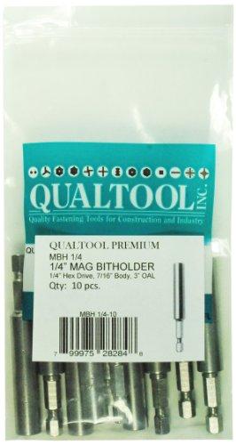 Qualtool Premium MBH14-10 Magnetic 14-Inch Hex Drive Bit Holder 10-Pack