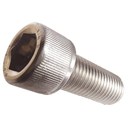 M25-045 x 10MM Socket Head Cap Screws Allen Socket Drive Din 912 Stainless Steel 304 Full Thread Bright Finish Machine Thread Quantity 100