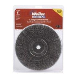 Bench Grinder Wire Wheel 8 Diameter Coarse Crimped Wire Narrow Face 58 Arbor