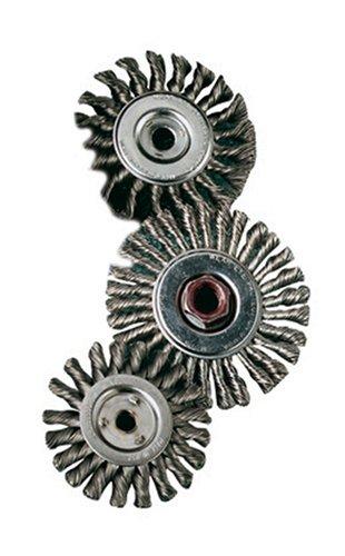 SAIT 06377 3 x 014 x 58-11 Arbor Carbon Bristle Knot Style Angle Grinder Wire Wheel