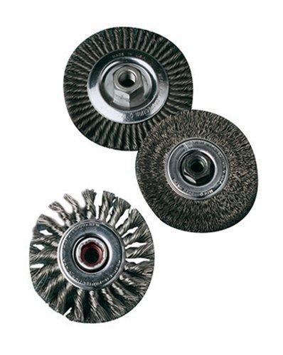 SAIT 06451 4 x 014 x M14 x 20 Arbor Carbon Bristle Crimped Style Angle Grinder Wire Wheel