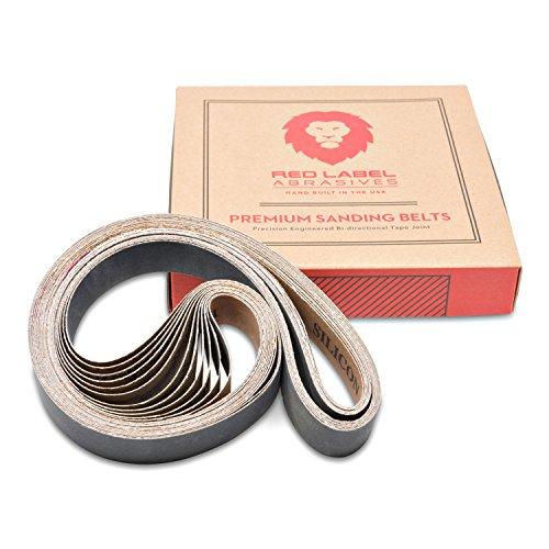 1 X 30 Inch Premium Silicon Carbide Fine Grit Sanding Belts 400 600 800 1000 Grits 12-Pack Assortment