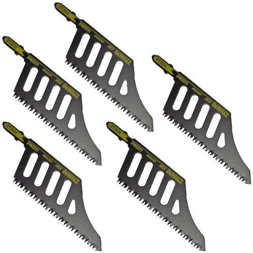 DEWALT 583048-01 DW3311 Flush Cut Jig Saw Blade Wood Cutting Blade Metal T-Shank - 5 packs