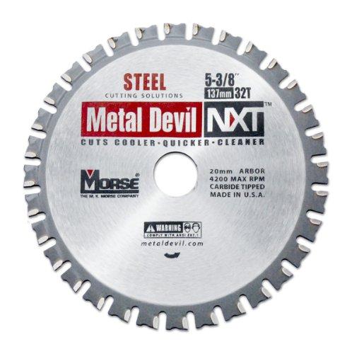 MK Morse CSM53832NSC Metal Devil NXT Circular Saw Blade  5-38-Inch Diameter 32 Teeth 20mm Arbor for Steel Cutting