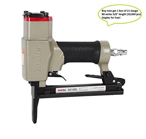 meite 8016BL Upholstery Stapler--21 Gauge 12-Inch Crown 14-Inch to 58-Inch Long Nose Fine Wire Stapler Upholstery Stapler