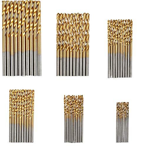 QLOUNI 120Pcs Twist Drill Bit Set Mini HSS Jobber Drill Bits for Metal Steel Wood Plastic Copper Aluminum Alloy 1 mm to 35 mm