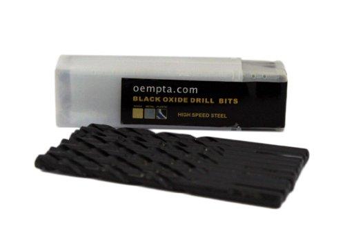 764-Inch Drill Bit Black Oxide Jobber Length 10 Pack -