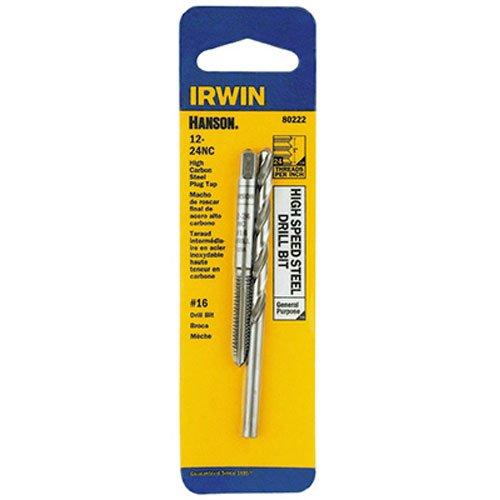 IRWIN HANSON 12 - 24 NC Tap and No 16 Drill Bit Set 80222
