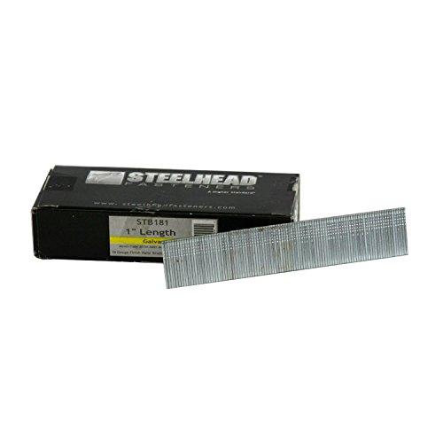 Steelhead STB181 18-Gauge 1-inch Galvanized Brad Nails 5000-Pack