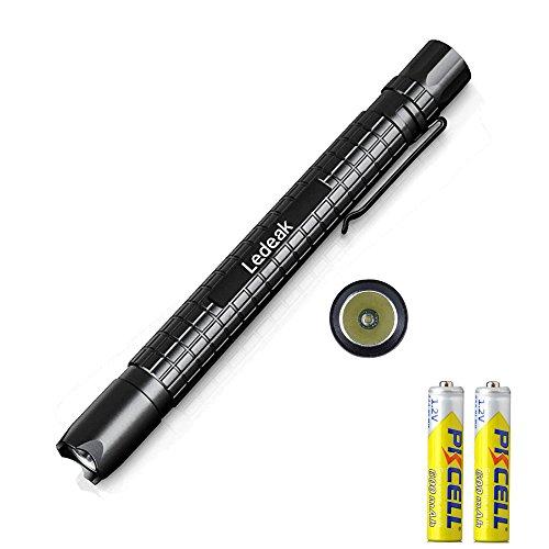 Battery Include Ledeak Cree XP-E2 R3 150 Lumen Mini LED Pen Shape Waterproof Flashlight Tactical EDC Pocket Penlight Use Two AAA battery