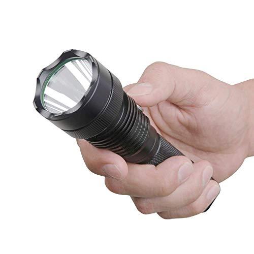 Guard Dog Xcess 550 Lumen Tactical Waterproof Flashlight with Custom Light Dimmer Rechargeable