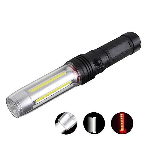 NVTED Tactical LED Flashlight Waterproof COB XPE dual lamp flashlights Work Lamp Handheld Lights with Rotating Hook Magnetic Base