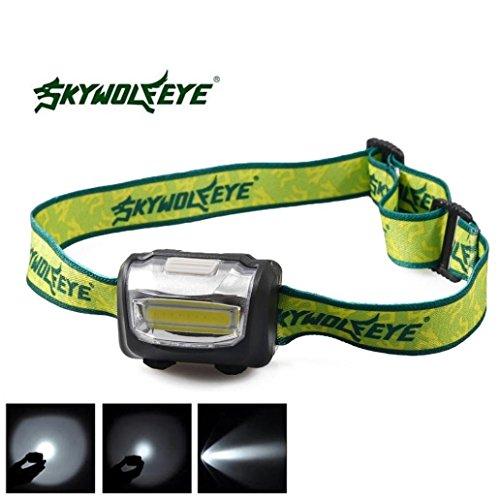 BinmerTM 3W Mini Headlight 300 Lumens LED Headlamp Flashlight Lamp Head Torch Camping Light 3 Modes Black
