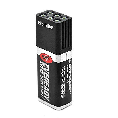Lixada 9 Volt LED Flashlight Torch Camping Light Compact Size Ultra Bright Black