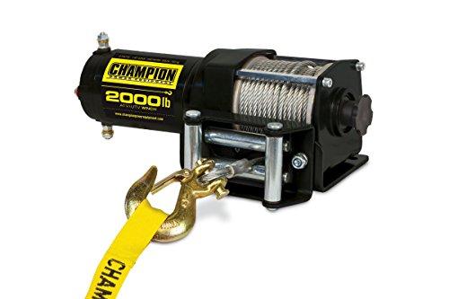 Champion Power Equipment 12003 2000 lb ATVUTV Winch Kit 12V DC