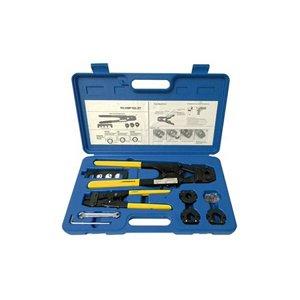PEX Crimp Tool Kit with Decrimper for 4 sizes 38 12 58 34