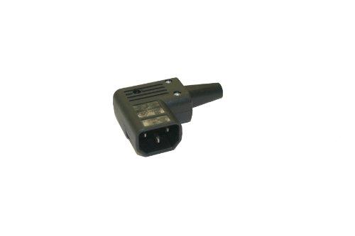 Interpower 83011070 IEC 60320 Sheet E Angled Rewireable Plug IEC 60320 Sheet E Socket Type Black 10A15A Rating 250VAC Rating