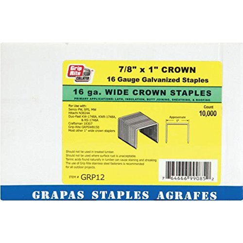Grip Rite GRTS1200 2 Leg 16 Gauge Wide Crown Stapler 1 by Grip-Rite