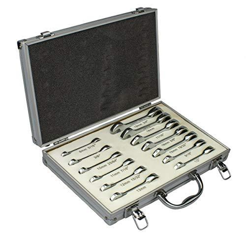 13PCS Duo Metric Combo Stubby Ratchet Wrench Set  SAEMM Cr-V 03631L
