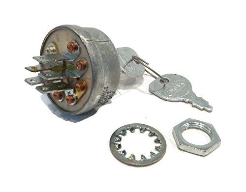 The ROP Shop Ignition Key Switch Keys fits John Deere 300 312 314 316 317 400 Lawn Mowers