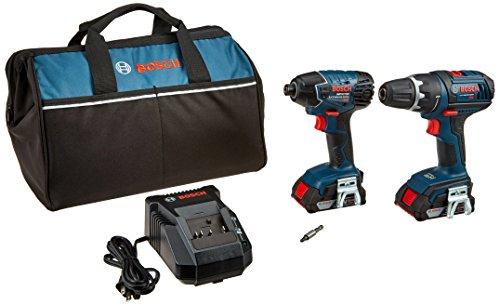 Bosch CLPK232-181 18V 2-Tool Combo Kit DrillDriver Impact Driver with 2 20 Ah Batteries