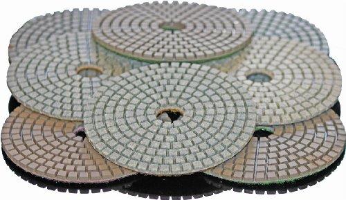 STADEA 5 Diamond Polishing Pads Grit 800 Wet for Granite Concrete Stone Polishing