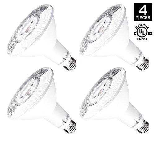 HyperSelect 14W LED Dimmable PAR38 Light Bulb 100W Equivalent 4000K Daylight White 1240 Lumen E26 Medium Screw Base 40° Beam Angle UL-Listed 4-Pack
