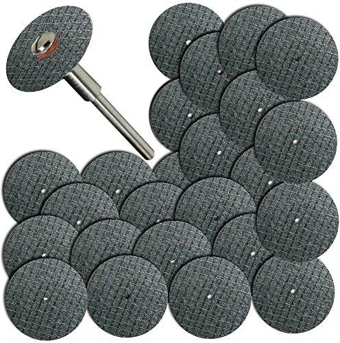 Rotary Tools 100pc Fiberglass Reinforced Cut Off Wheel Disc w 2 Mandrel 18 Fit Dremel Tool