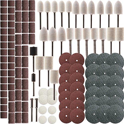 ZFE 137Pcs Felt Polishing Pad Wheel Set Dremel Accessories for Dremel Proxxon Rotary Tools