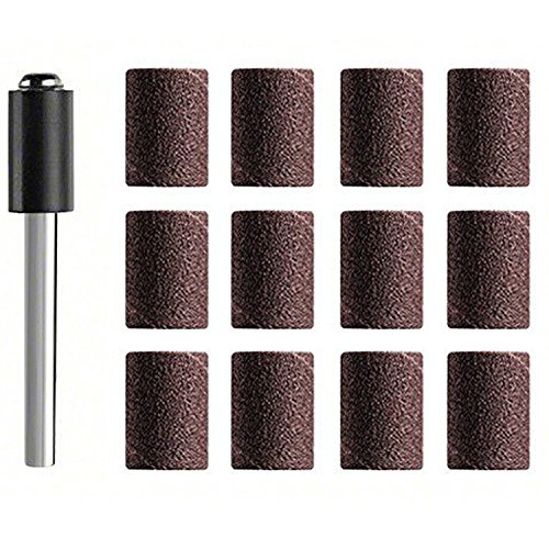 ZFEÂ Sanding bands  Sanding Sleeve 8mm - K120 for Dremel Proxxon Rotary Tools-3mm shank Pack of 12Pcs