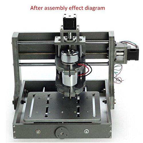 XNEMON DIY CNC Machine USB PCB CNC 3 Axis Milling Engraving Machine 300W 2020B DIY CNC Wood Carving PVC
