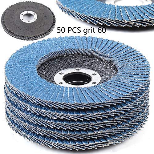 50Pc 60 Grit 45 Flap Disc Abrasive Sanding Wheels Grinding Wheel for Stainless US Shipment