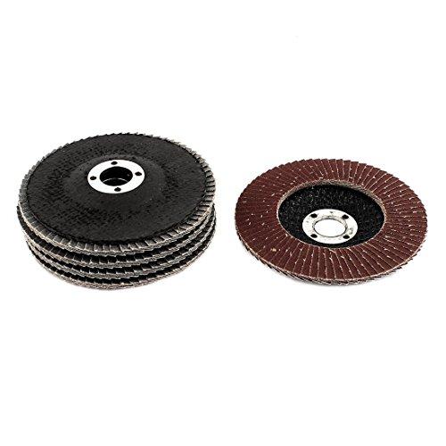 uxcell Drauble Polishing Flap Sanding Abrasive Wheels Discs 4 Inch Dia 16mm Bore 5 Pcs