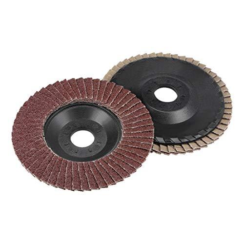 uxcell Flap Disc 240 Grit 4 x 58 Abrasive Grinding Wheel Flap Sanding Disc Aluminum Oxide 2pcs