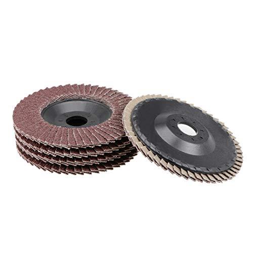 uxcell Flap Disc 240 Grit 4 x 58 Abrasive Grinding Wheel Flap Sanding Disc Aluminum Oxide 5pcs