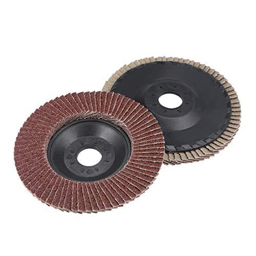 uxcell Flap Discs 240 Grit 4 Inch x 58 Inch Abrasive Grinding Wheel Flap Sanding Disc Aluminum Oxide 2pcs