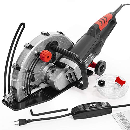 XtremepowerUS 2600W Electric 14 Disc Cutter Circular Saw Concrete Saw Power Angle Cutter WetDry Circular Blade wGuide Roller
