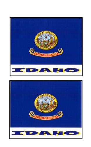 2 Souvenir Idaho State Flag Stickers Decal Laptop Phone Locker Toolbox Wall Stocking Stuffer
