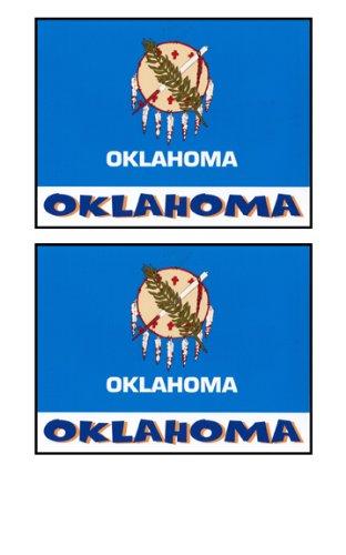 2 Souvenir Oklahoma State Flag Stickers Decal Laptop Phone Locker Toolbox Wall Stocking Stuffer