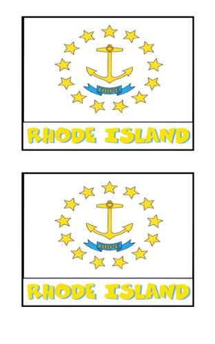2 Souvenir Rhode Island State Flag Stickers Decal Laptop Phone Locker Toolbox Wall Stocking Stuffer