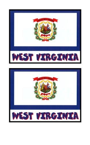 2 Souvenir West Virginia State Flag Stickers Decal Laptop Phone Locker Toolbox Wall Stocking Stuffer