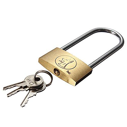 BephaMart 40mm Suitcase Locker Toolbox Brass Padlock Long Shackle keys Shipped and Sold by BephaMart