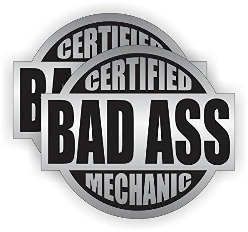 Bad Ass Mechanic Hard Hat Sticker  Helmet Decal Label Lunch Tool Box