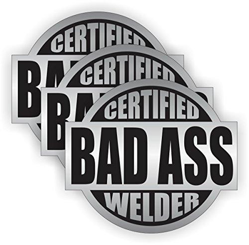 Bad Ass Welder Hard Hat Sticker  Helmet Decal Label Lunch Tool Box
