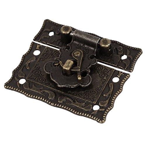 Antique Style Latch - SODIALR Wood Case Chest Box Rectangle Clasp Closure Hasp Latches Bronze Tone